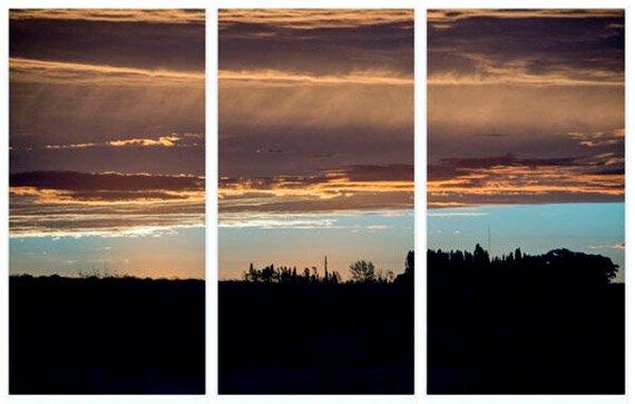 Cuadro tríptico cielo - Proyecto Cuadro